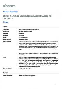 Factor X Human Chromogenic Activity Assay Kit - Abcam