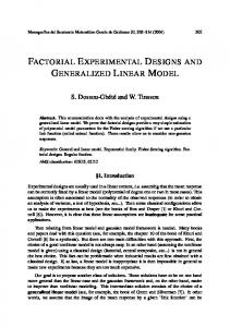 factorial experimental designs and generalized linear model