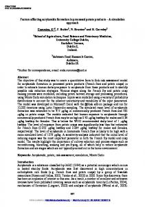 Factors affecting acrylamide formation in processed potato products ...