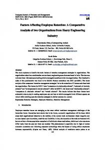 Factors Affecting Employee Retention: A Comparative ...