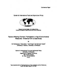 Factors Affecting Farmers' Participation in Agri ... - AgEcon Search