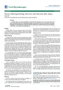 Factors Affecting Healing, Recovery and ... - OMICS International