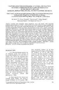 Factors Affecting Knowledge, Attitude, and Practice of Rural ...