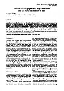 Factors affecting Lymantria dispar mortality in a willow wood in ...