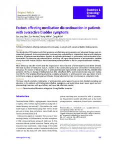 Factors affecting medication discontinuation in