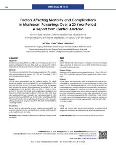 Factors Affecting Mortality and Complications in Mushroom Poisonings ...