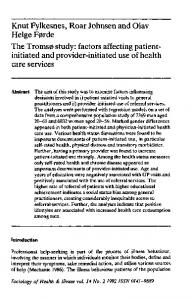 factors affecting patient-initiated and provider ... - Wiley Online Library