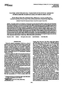 Factors affecting spatial variation of polycyclic ... - Wiley Online Library
