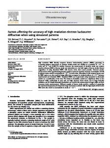 Factors affecting the accuracy of high resolution electron backscatter ...