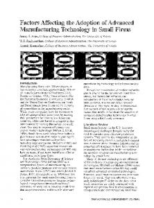 Factors Affecting the Adoption of Advanced Manufacturing Technology ...