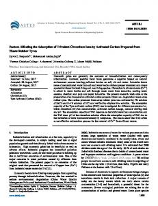 Factors Affecting the Adsorption of Trivalent Chromium Ions ... - ASTESJ