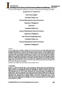 Factors affecting the attitude of trust in Internet - journal-archieves8