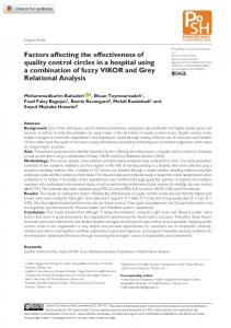 Factors affecting the effectiveness of quality control ... - SAGE Journals