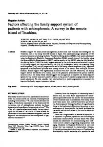 Factors affecting the family support system of ... - Wiley Online Library