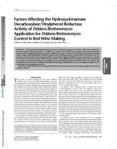 Factors Affecting the Hydroxycinnamate ... - Wiley Online Library