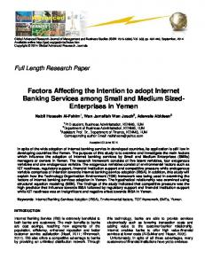Factors Affecting the Intention to adopt Internet Banking Services ...