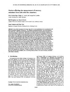 Factors affecting the measurement of mercury ... - Wiley Online Library