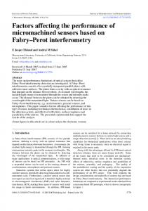 Factors affecting the performance of micromachined ... - CiteSeerX