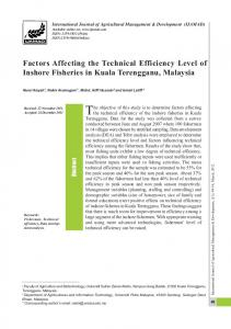 Factors Affecting the Technical Efficiency Level of ... - AgEcon Search