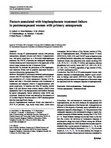 Factors associated with bisphosphonate treatment ... - Springer Link