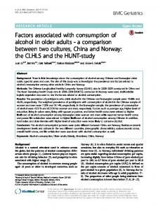 Factors associated with consumption of alcohol in ... - Semantic Scholar