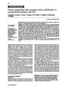 Factors associated with coronary artery calcification in young female ...