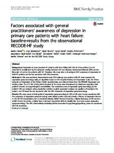 Factors associated with general practitioners