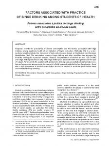 factors associated with practice of binge drinking among ... - Scielo.br