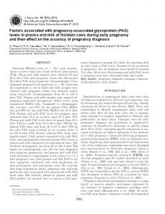 Factors associated with pregnancy-associated glycoprotein (PAG ...
