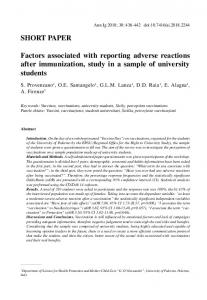 Factors associated with reporting adverse reactions ...