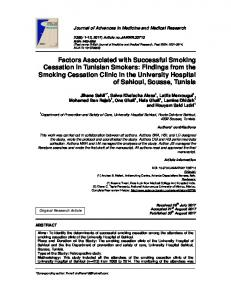 Factors Associated with Successful Smoking ... - Journal Repository