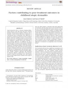 Factors contributing to poor treatment outcomes ... - Wiley Online Library