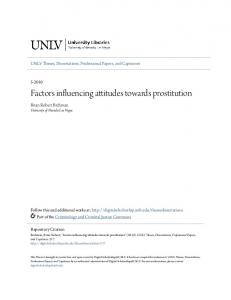 Factors influencing attitudes towards prostitution