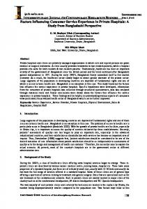 Factors Influencing Consumer Service ... - journal-archieves8 - Webs