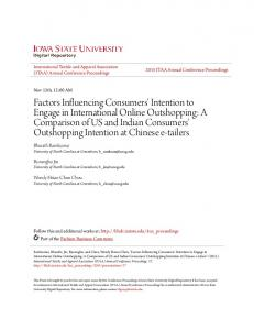 Factors Influencing Consumers' Intention to Engage in International ...