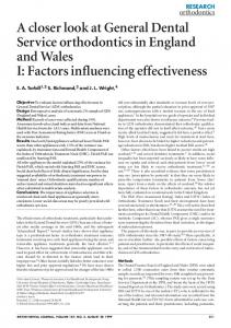 Factors influencing effectiveness - Nature