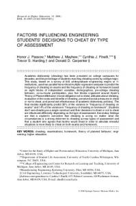 factors influencing engineering students' decisions to ... - Deep Blue