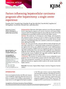 Factors influencing hepatocellular carcinoma