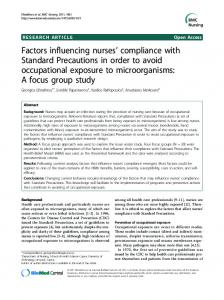 Factors influencing nurses' compliance with