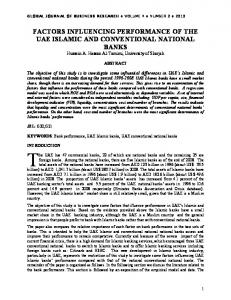 factors influencing performance of the uae islamic and conventional ...