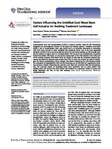 Factors Influencing the Umbilical Cord Blood ... - Stem Cells Journals