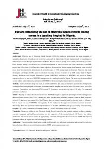 Factors influencing the use of electronic health records among nurses