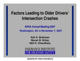 Factors leading to older drivers' intersection crashes