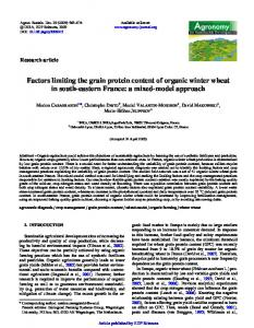 Factors limiting the grain protein content of organic ... - ISARA-Lyon