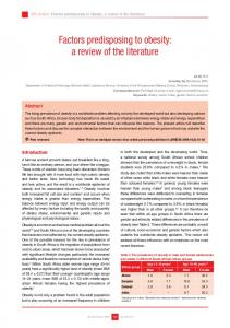 literature review of obesity