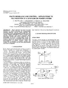 Facts Modelling And Control - IEEE Xplore