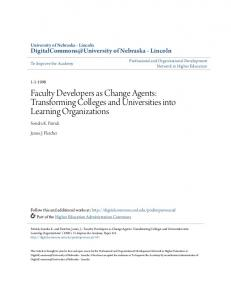 Faculty Developers as Change Agents: Transforming ... - CiteSeerX
