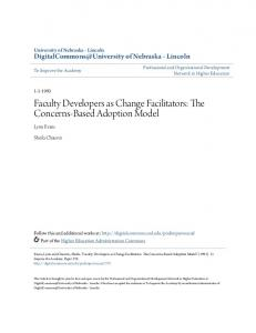 Faculty Developers as Change Facilitators: The Concerns ... - CiteSeerX