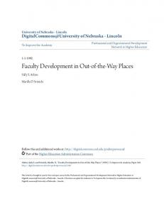 Faculty Development in Out-of-the-Way Places - DigitalCommons ...