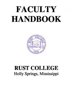 Faculty Handbook - Rust College
